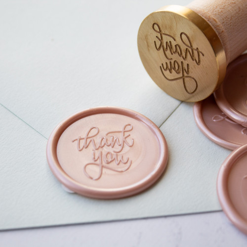 Thank you wax seal stamp by Paper Sushi
