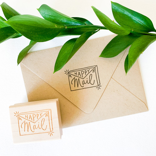 Happy Mail rubber stamp by Paper Sushi #happymail #rubberstamp #snailmail