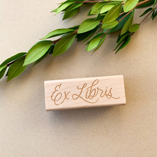 Calligraphy Ex Libris rubber stamp by Paper Sushi