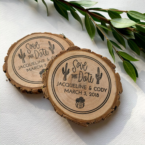 Cactus Save the Date stamp by Paper Sushi
