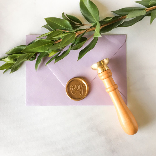 Custom wax seal stamp by Paper Sushi #waxseal