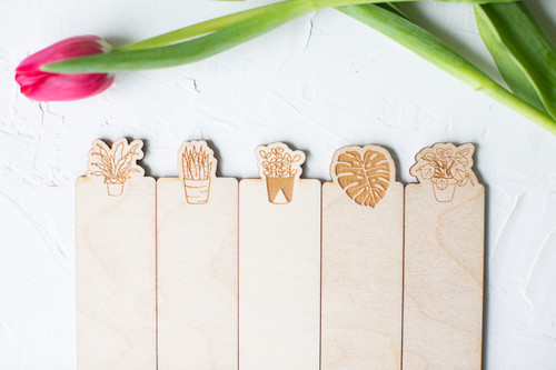 Birch plant bookmarks by Paper Sushi