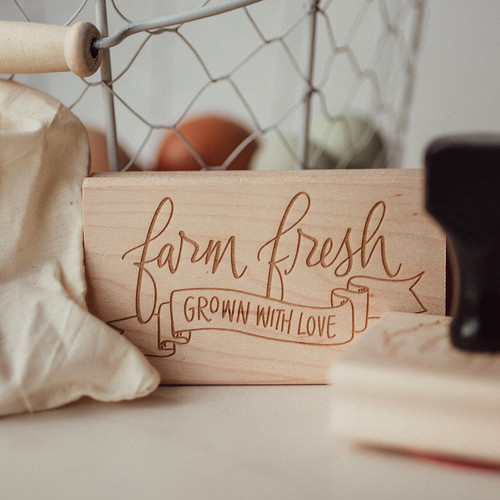 Farm Fresh Grown With Love stamp by Paper Sushi #farmfresh #eggstamp