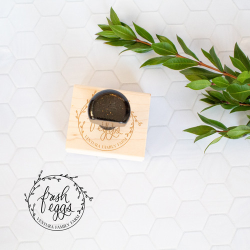 Personalized fresh eggs stamp by Paper Sushi #eggstamp #farmstamp