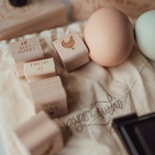 Mini egg stamps by Paper Sushi #eggstamp #homestead