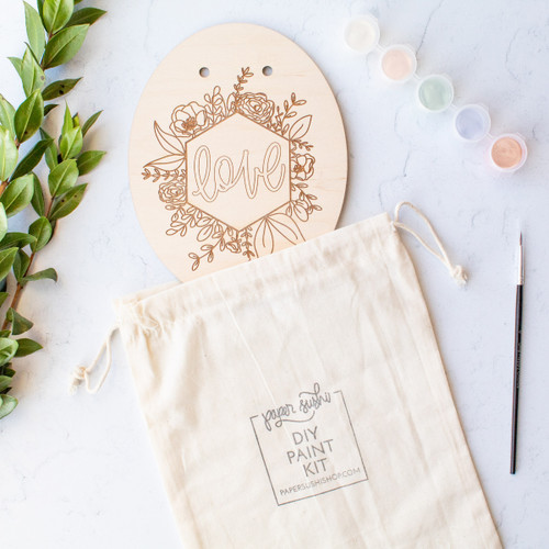 Love DIY painting kit by Paper Sushi.
