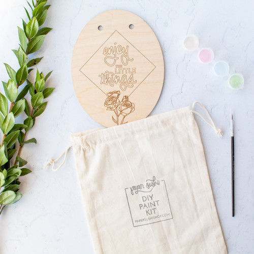 Enjoy the Little Things DIY painting kit by Paper Sushi