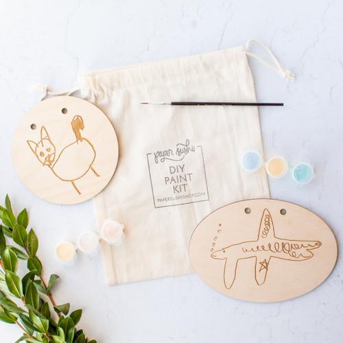 Custom Kid's Drawing DIY Painting Kit by Paper Sushi