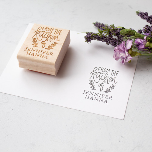 Personalized From the Kitchen of Rubber Stamp by Paper Sushi
