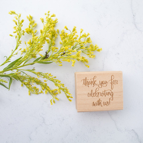 Thank you for celebrating with us rubber stamp by Paper Sushi