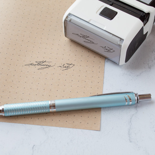 Self inking signature stamp by Paper Sushi