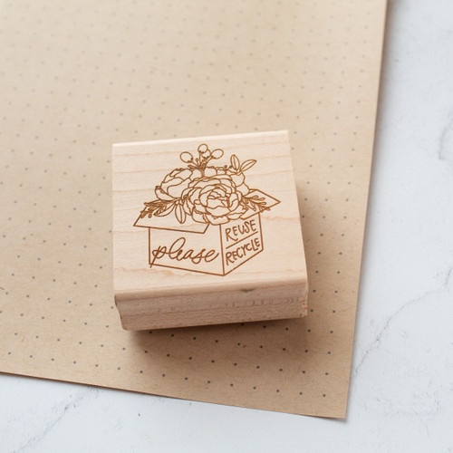 Floral reuse and recycle stamp by Paper Sushi