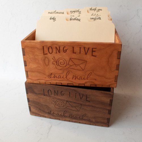 Greeting card storage box by Paper Sushi