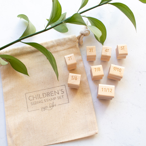Children's Sizing Stamp Set by Paper Sushi