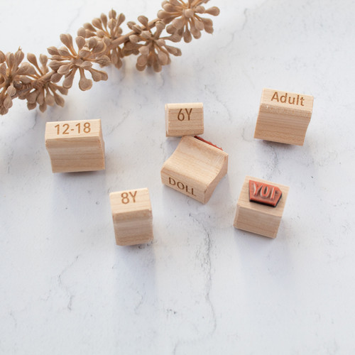 Custom sizing stamps by Paper Sushi