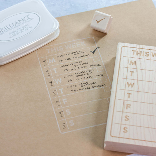 Weekly Planner Rubber Stamps by Leemo Designs in the Paper Sushi Maker's Market