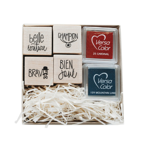 Mini french teacher stamp set by Paper Sushi