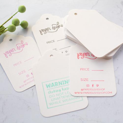 Blank white cloud cut merchandise tags