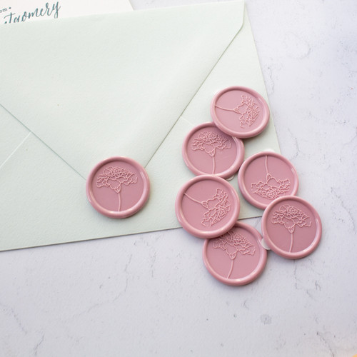 Flower wax seal stamp by Paper Sushi