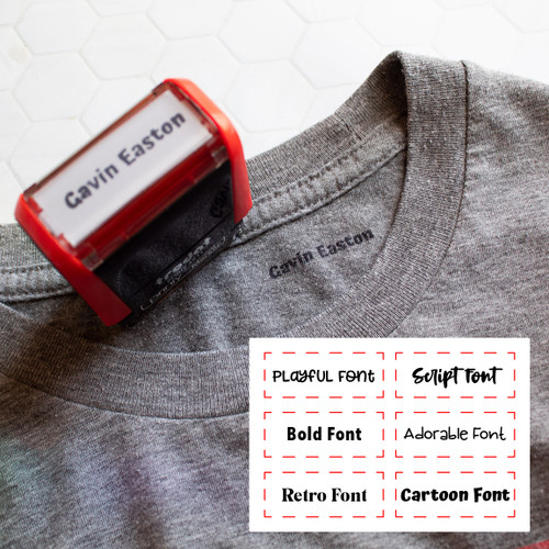 Custom clothing marker stamp by Paper Sushi