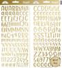 Doodlebug Abigail Alpha Sticker: Gold Foil