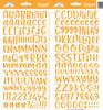 Doodlebug Abigail Alpha Sticker: Tangerine