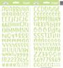Doodlebug Abigail Alpha Sticker: Limeade