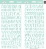 Doodlebug Abigail Alpha Sticker: Mint
