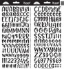Doodlebug Abigail Alpha Sticker: Beetle Black