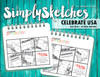 Simply Sketches Ebook: July 2018 | Celebrate USA