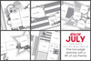 5-PACK: JULY 2019 | 4th of July Theme (Two Page Layouts)