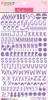 Bella Blvd Florence Alphabet Stickers: Plum