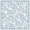 Gina K. Designs 6x6 Stencil: Rose Swirl