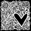 Crafter's Workshop 6x6 Template: Love Frame