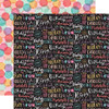 Echo Park It's My Birthday - GIRL 12x12 Paper: Birthday Girl Words