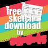 SG Freebies by Debbie Sanders: Sketches using 8x8 papers