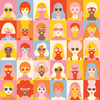 My Mind's Eye One of a Kind 12x12 Paper: Girls Girls Girls