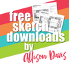 Allison Davis for SG Freebies: Let's Party Crop | One and Two Page Sketches