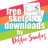 Debbie Sanders for SG Freebies: Let's Party Crop | One and Two Page Sketches