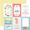Echo Park Summertime 12x12 Paper: 4X6 Journaling Cards