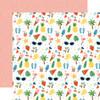 Echo Park Summertime 12x12 Paper: Sunshiny Day