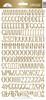 Doodlebug Sunshine Alpha Sticker: Gold Foil