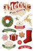 Paper House 3D Sticker: Merry and Bright