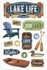 Paper House 3D Sticker: Lake Life