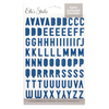 Elle's Studio Puffy Alphabet Stickers: Navy Blue