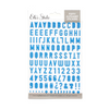 Elle's Studio Puffy Alphabet Stickers: Cerulean Blue