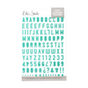 Elle's Studio Puffy Alphabet Stickers: Teal