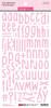 Bella Blvd Aria Puffy Alphabet Stickers: Cotton Candy