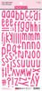 Bella Blvd Aria Puffy Alphabet Stickers: Punch