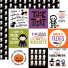 Echo Park I Love Halloween 12x12 Paper: 4X4 Journaling Cards